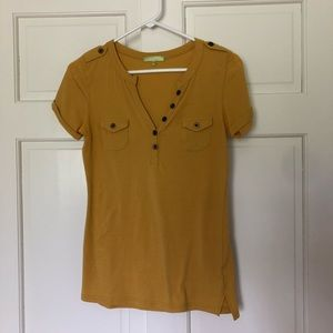 Tops - Mustard yellow fitted top